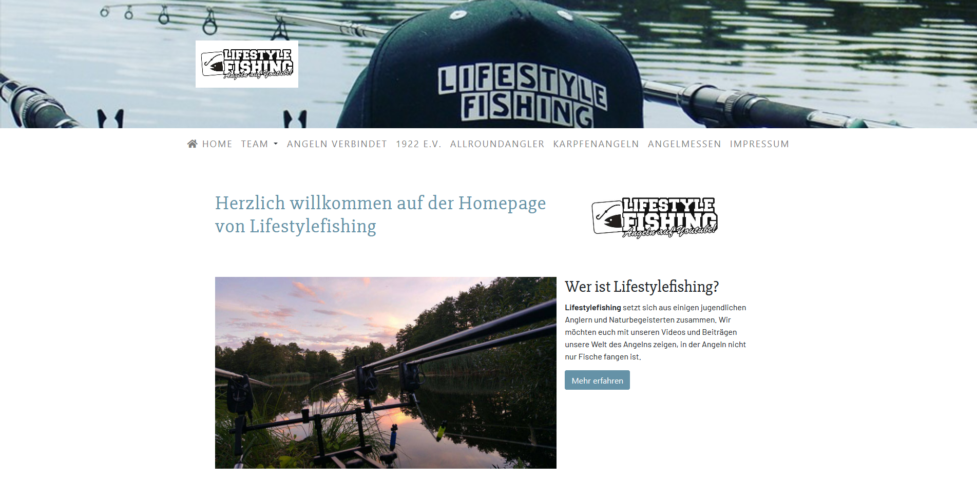 lifestylefishing.de Website Portfolio